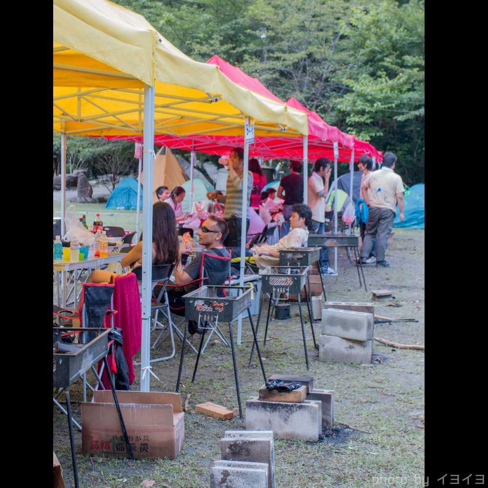 オバケンゾンビキャンプの飯盒炊爨