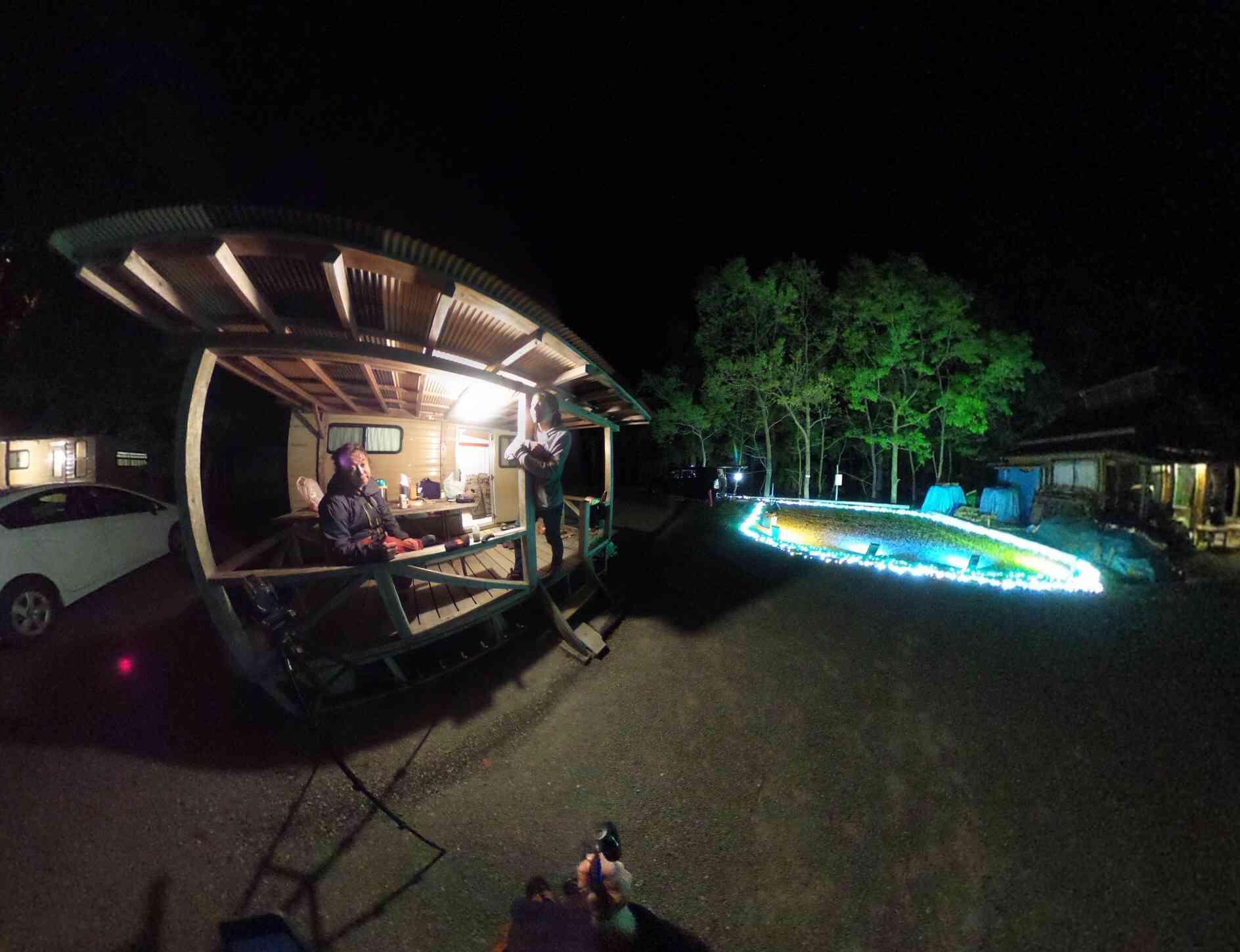 オートキャンプ銀河のバンガロー
