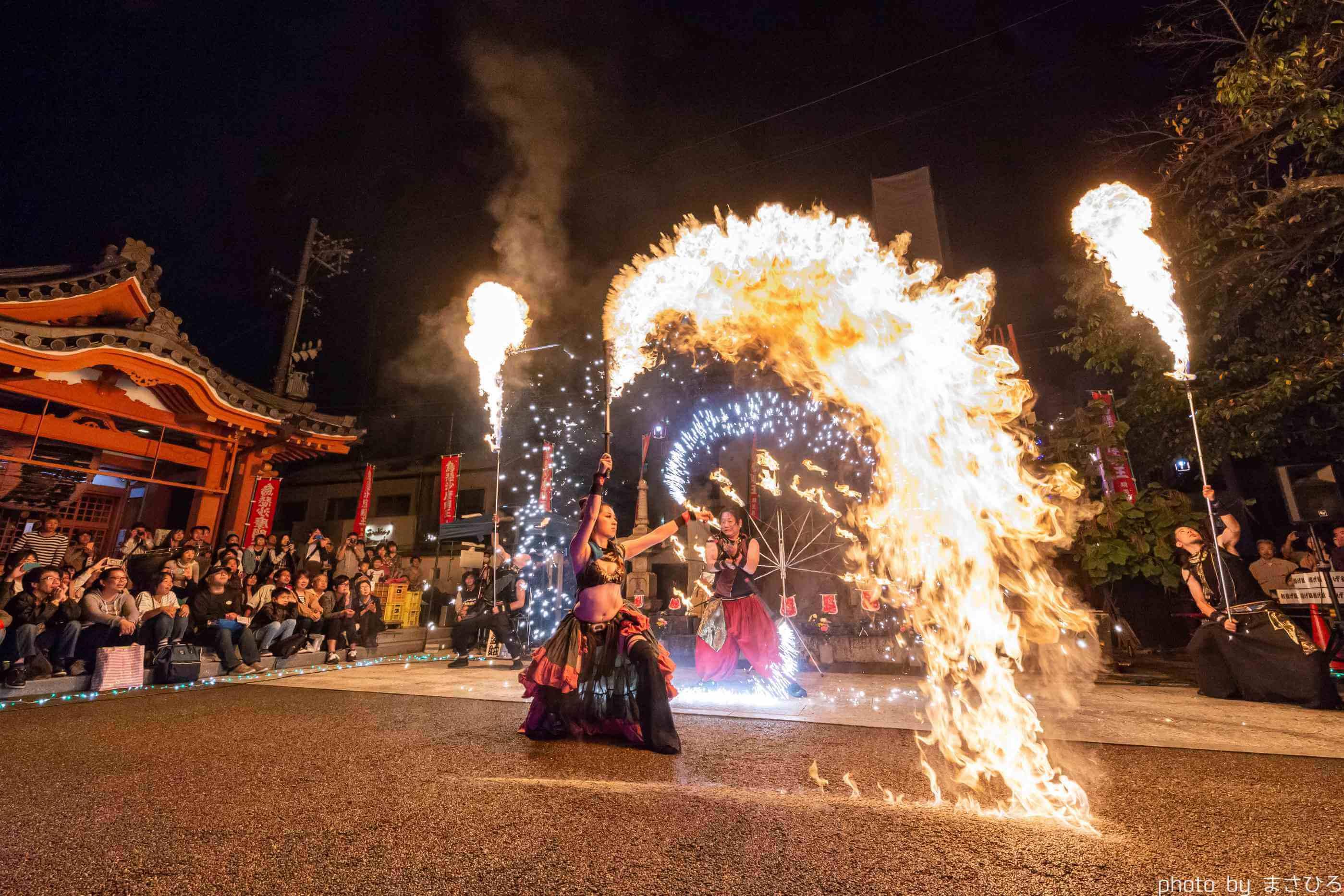 大須大道町人祭12年目の火付盗賊ファイヤーショー
