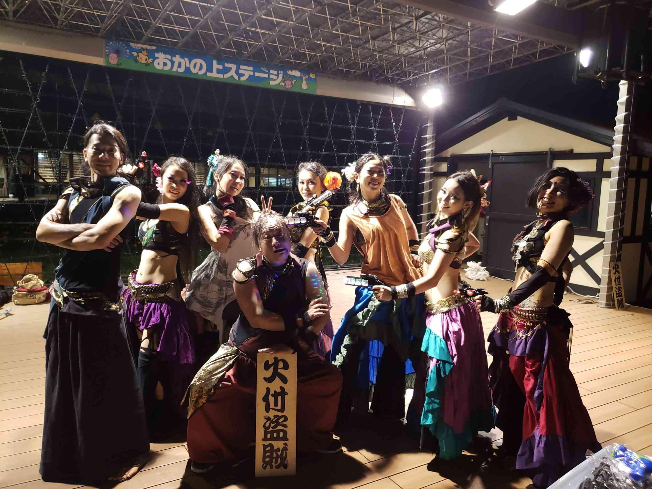 東京ドイツ村の夏イベントサマーフェスタでイルミネーションとファイアーショー