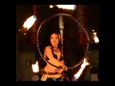 【火付盗賊&火蛇サラマンドラ】Fire Hula Hoop ファイヤーフラフープ