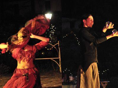 【火付盗賊】おこたんぺ、イヨイヨ、Noriファイヤーベリーダンス@バラ園