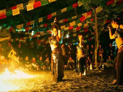 【火付盗賊&火蛇サラマンドラ】ファイヤーショー Dance of Shiva2012@西伊豆