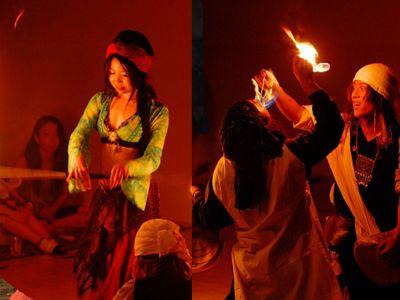 【火付盗賊&火蛇サラマンドラ】ファイヤーベリーダンスショー Fire Show