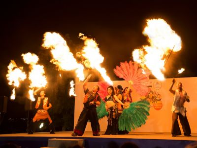 【火蛇サラマンドラ&火付盗賊】ベリーダンス&ジャグリング&ファイアーショー
