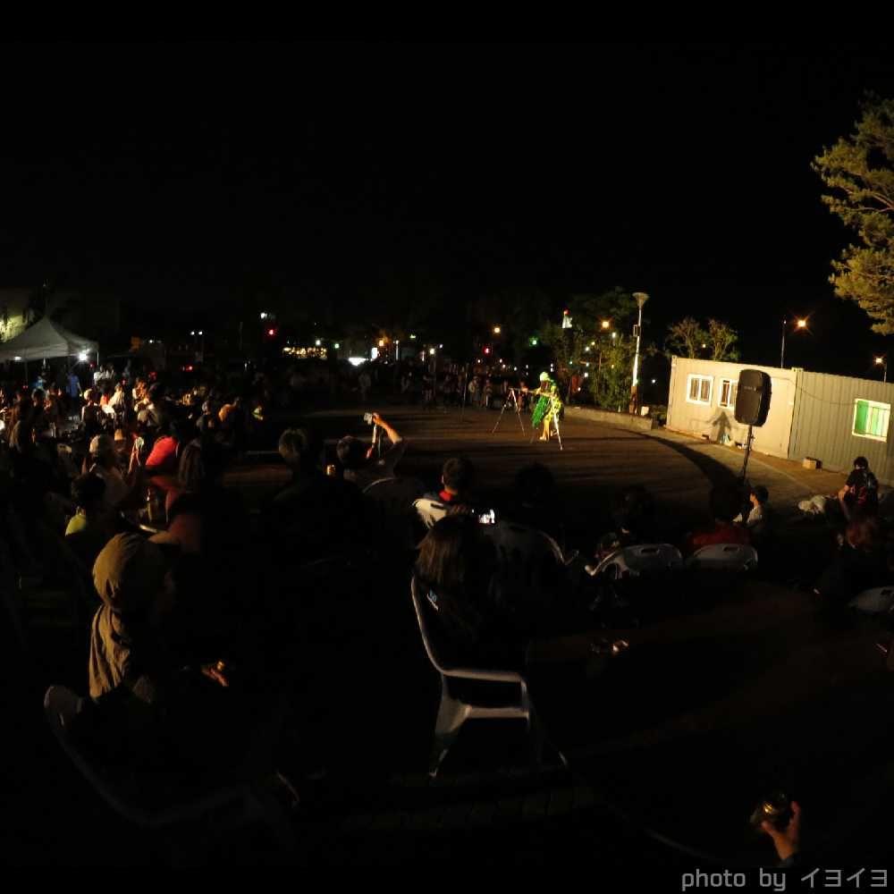 チュンチョン国際マイムフェスティバルの前夜祭でChataの大道芸