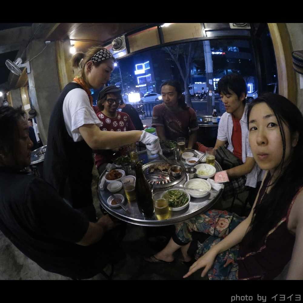 韓国ファイアーフェスティバルで韓国観光