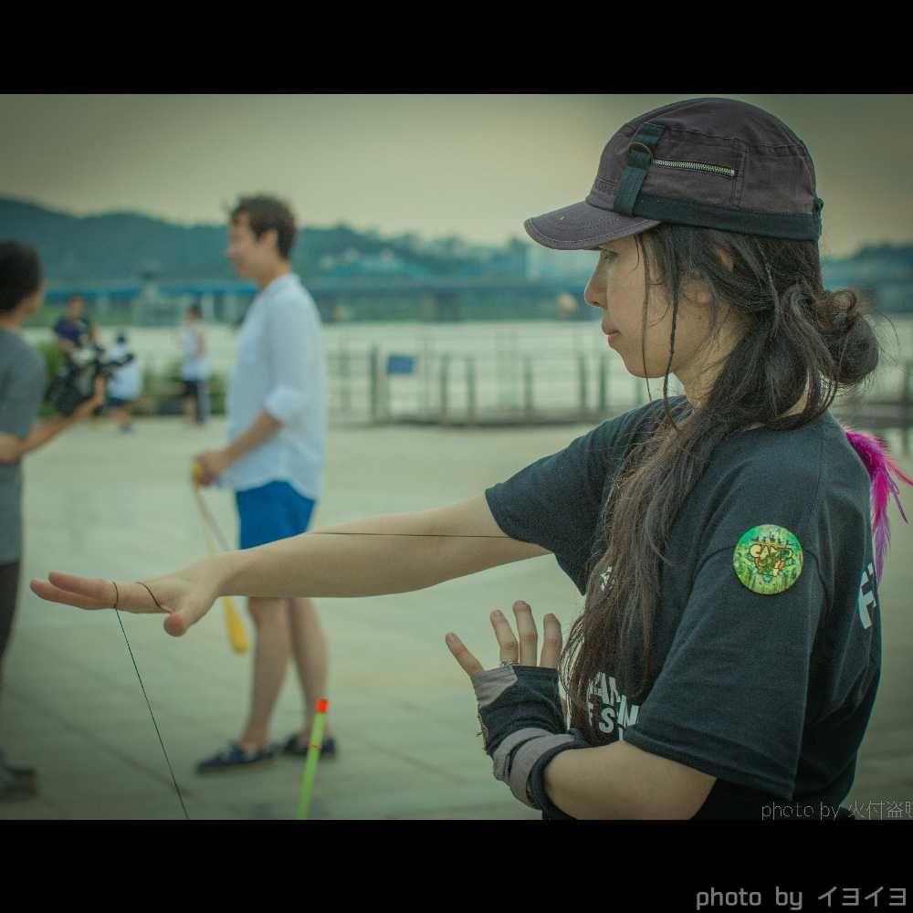 韓国ファイアーフェスティバルでワークショップ