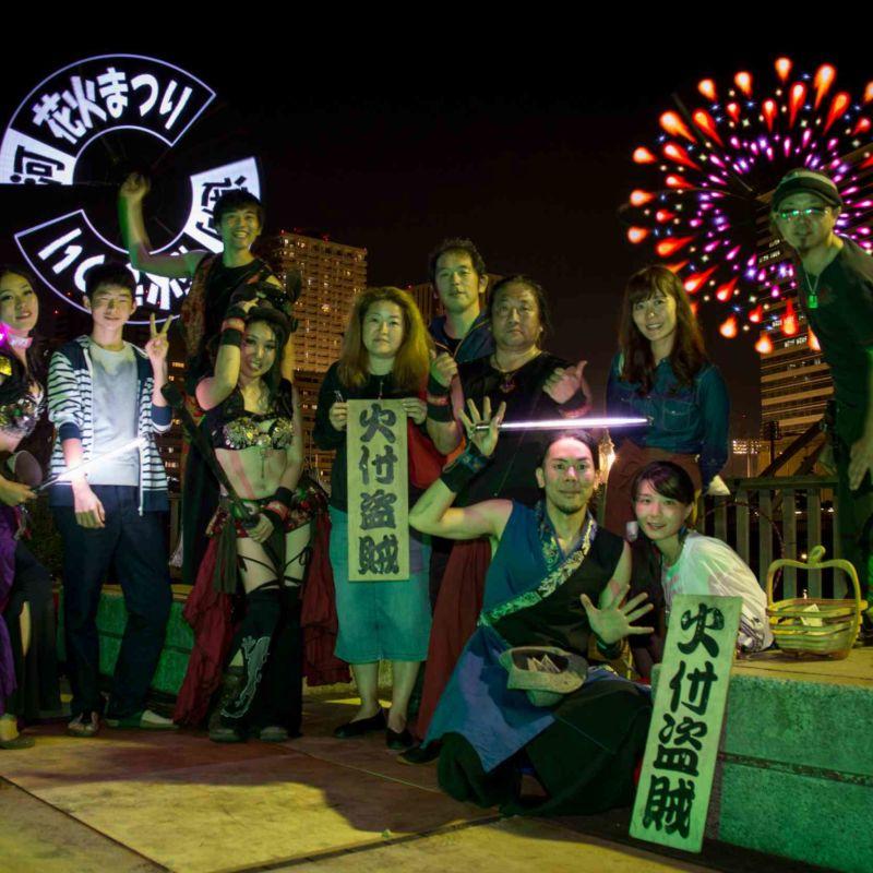 品川運河花火祭りファイアーショー