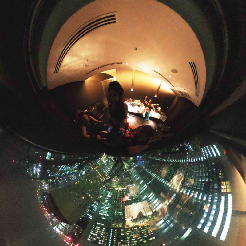 高層ビルで企業パーティ