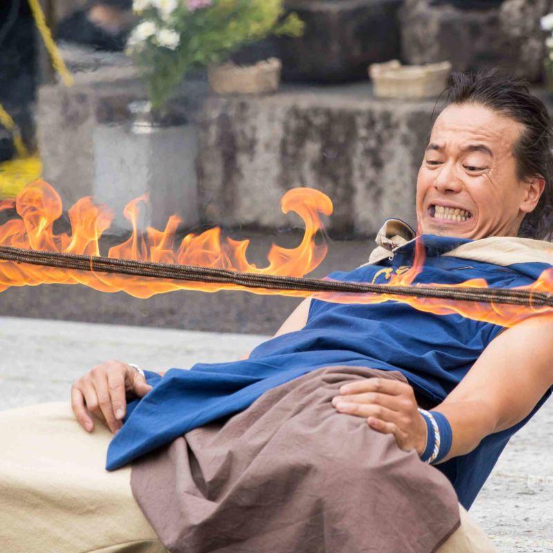 大須大道町人祭の火付盗賊ファイアー大道芸