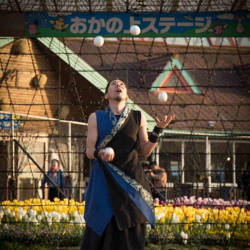 東京ドイツ村でファイアーパフォーマンス