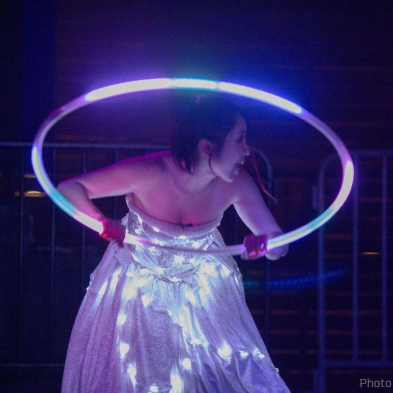 アゲハ東京の17周年イベントでライトパフォーマンス